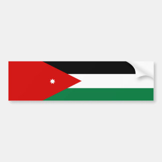 jordan country flag nation symbol bumper sticker