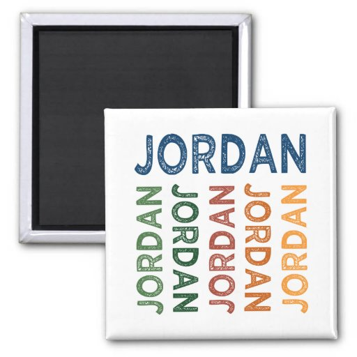 Jordan Cute Colorful Magnet