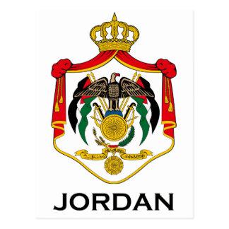 JORDAN - emblem/flag/coat of arms/symbol Postcard