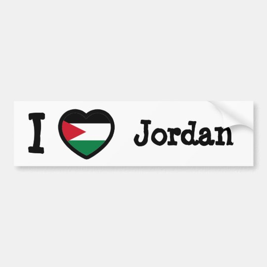 Jordan Flag Bumper Sticker