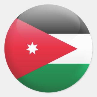 Jordan Flag Classic Round Sticker