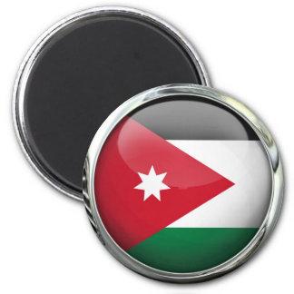 Jordan Flag Glass Ball Magnet