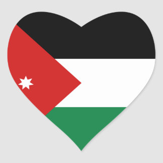 Jordan Flag Heart Sticker