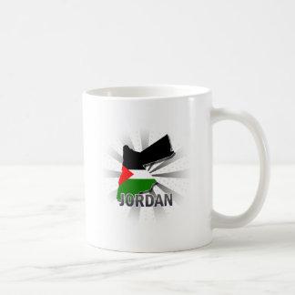 Jordan Flag Map 2.0 Coffee Mug