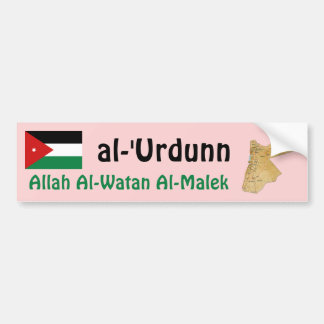 Jordan Flag + Map Bumper Sticker