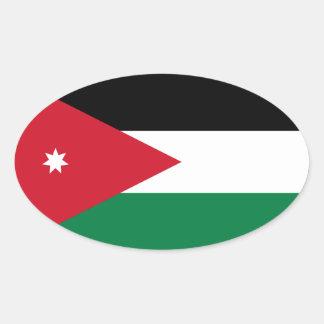 Jordan Flag Oval Sticker