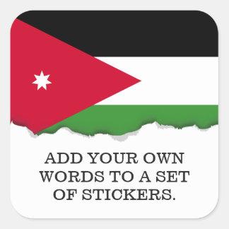 Jordan Flag Square Sticker