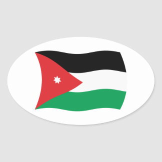 Jordan Flag Sticker