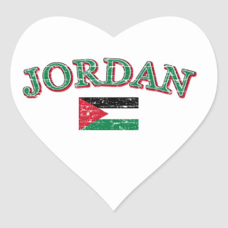 Jordan football design heart sticker