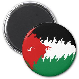 Jordan Gnarly Flag 6 Cm Round Magnet