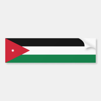 Jordan/Jordanian Flag Bumper Sticker