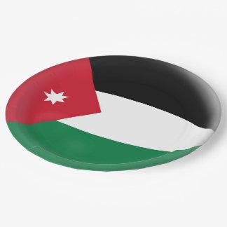 Jordan Jordanian Flag Paper Plate