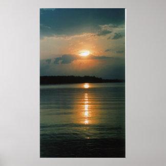 Jordan Lake Sunset Poster