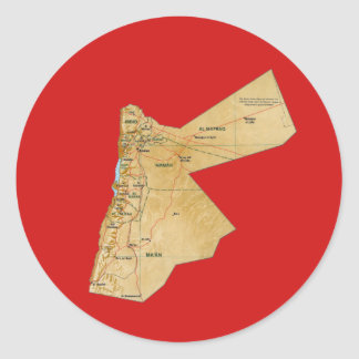 Jordan Map Sticker