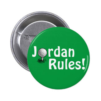 Jordan Rules! 6 Cm Round Badge