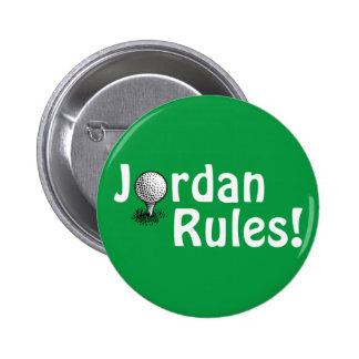 Jordan Rules! 6 Cm Round Badge