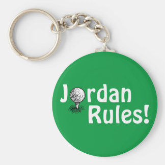 Jordan Rules! Basic Round Button Key Ring