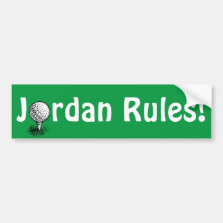 Jordan Rules! Bumper Sticker