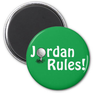 Jordan Rules! 6 Cm Round Magnet
