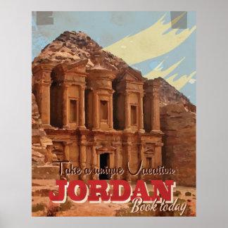 Jordan vacation Vintage Travel Poster. Poster