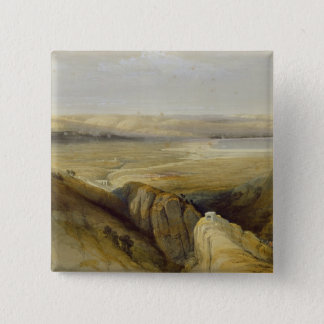 Jordan Valley, from Volume II of 'The Holy Land' 15 Cm Square Badge