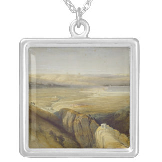 Jordan Valley, from Volume II of 'The Holy Land' Silver Plated Necklace