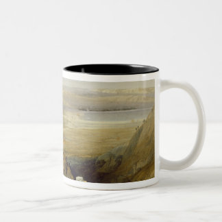 Jordan Valley, from Volume II of 'The Holy Land' Two-Tone Coffee Mug