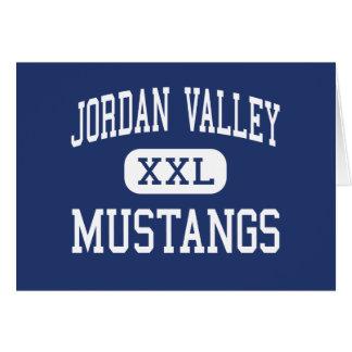 Jordan Valley - MUSTANGS - High - Jordan Valley Greeting Card