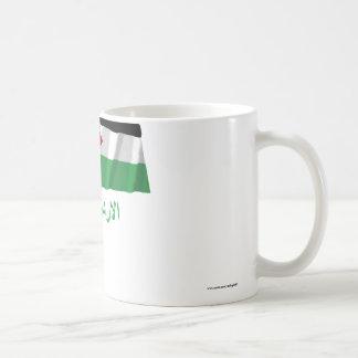 Jordan Waving Flag with Name in Arabic Coffee Mug