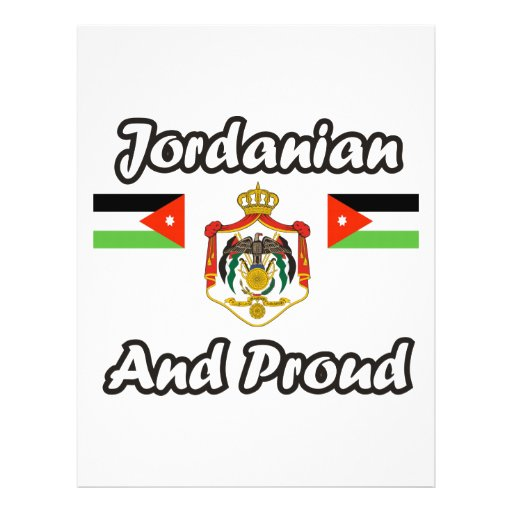 Jordanian And Proud Personalized Flyer