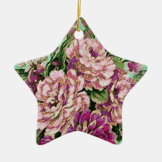 Joremount Chic Floral Star Christmas Ornament