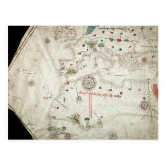 Jorge Aguiar Map - 1492 Postcard