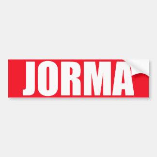 Jorma Bumper Sticker