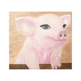 Jo's Pig on Canvas