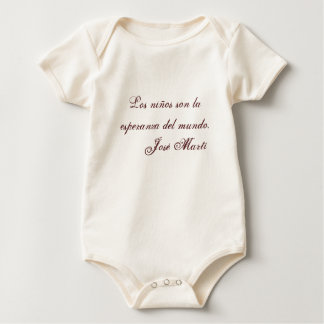 Jose Marti Poetry baby clothing 1 (beige) Baby Bodysuit