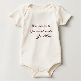 Jose Marti Poetry baby clothing 1 (beige) Bodysuit
