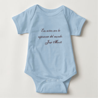 Jose Marti Poetry baby clothing 1 (blue) Baby Bodysuit