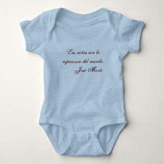 Jose Marti Poetry baby clothing 1 (blue) Tshirts