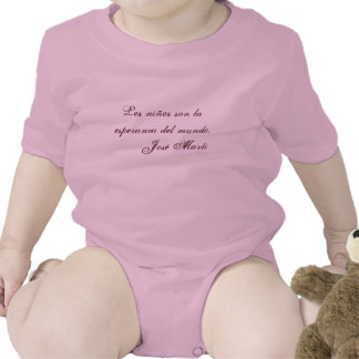 Jose Marti Poetry baby clothing 1 (pink) Rompers