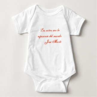 Jose Marti Poetry baby clothing 1 (white) T-shirt