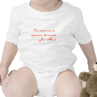 Jose Marti Poetry baby clothing 1 white Baby Bodysuit