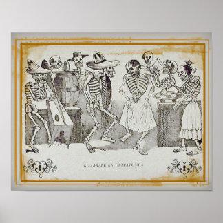 """José  Posada-El jarabe en ultratumba 14""""x11"""" Print"""