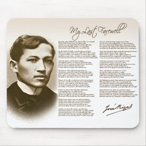 last farewell of rizal List of books and published works of jose rizal  • my last farewell (mi ultimo  • my last thought •.