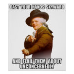 Josepf Ducreux rap Hands Skyward Poster