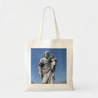 Joseph and child statue canvas bag