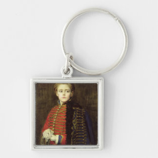 Joseph Bara  as a Young Man Silver-Colored Square Key Ring