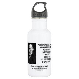 Joseph Conrad Hate Detest Lie Appalls Me Quote 532 Ml Water Bottle