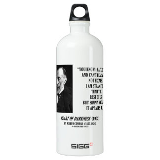 Joseph Conrad Hate Detest Lie Appalls Me Quote SIGG Traveller 1.0L Water Bottle