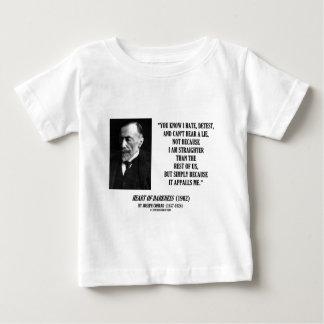 Joseph Conrad Hate Detest Lie Appalls Me Quote T-shirts