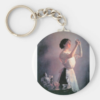 Joseph DeCamp - The blue cup Basic Round Button Key Ring